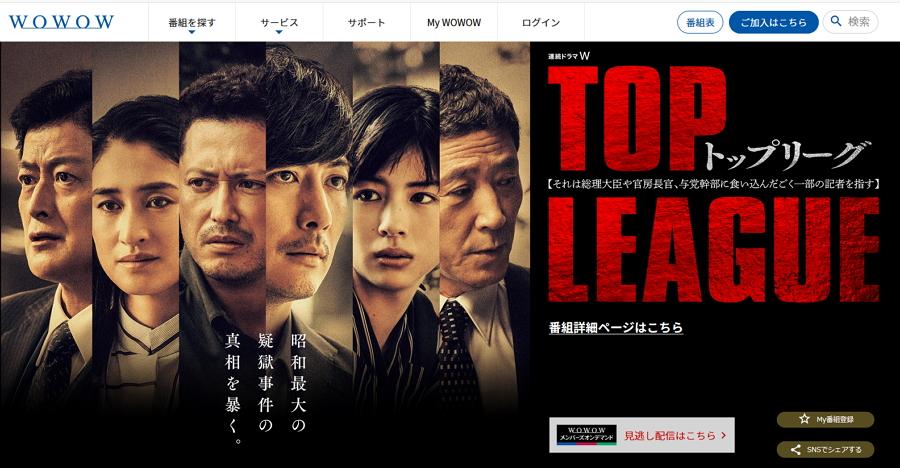 《TOP LEAGUE》劇照 翻攝自WOWOW網站