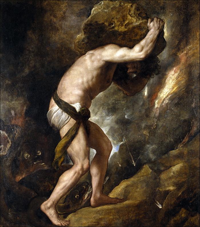 西西弗斯,Titian所繪,引自 wiki