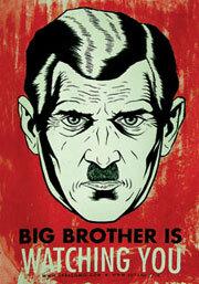 一幅關於老大哥的公共藝術作品「老大哥在看著你」 引用自 wiki 1984