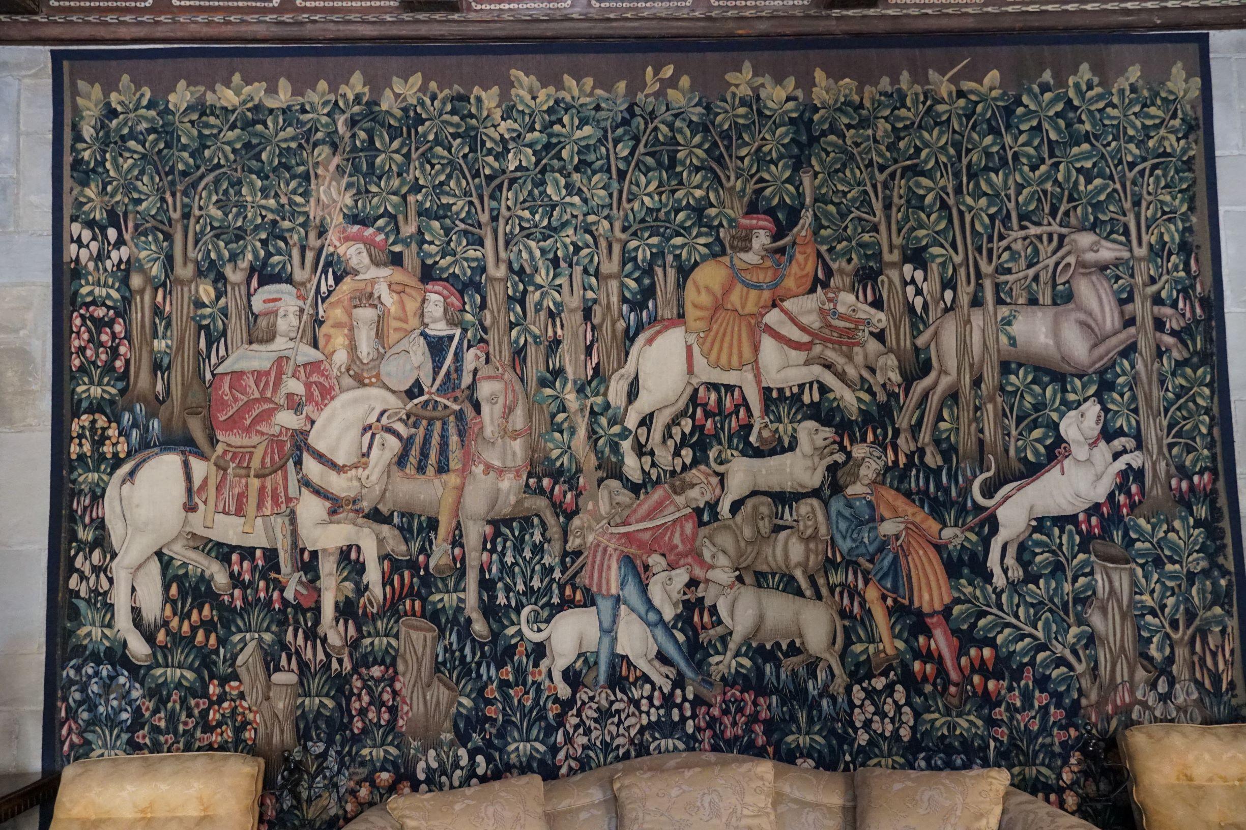 15世紀的狩獵千花掛毯