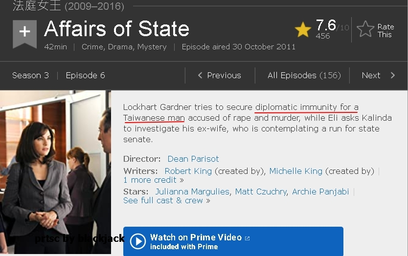 Affairs of State  Episode aired 30 October 2011 翻攝 imdb