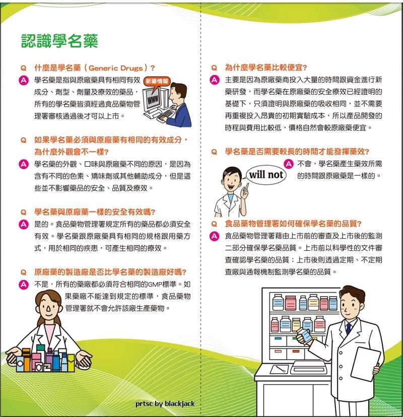 食藥署對學名藥的介紹(民眾版)