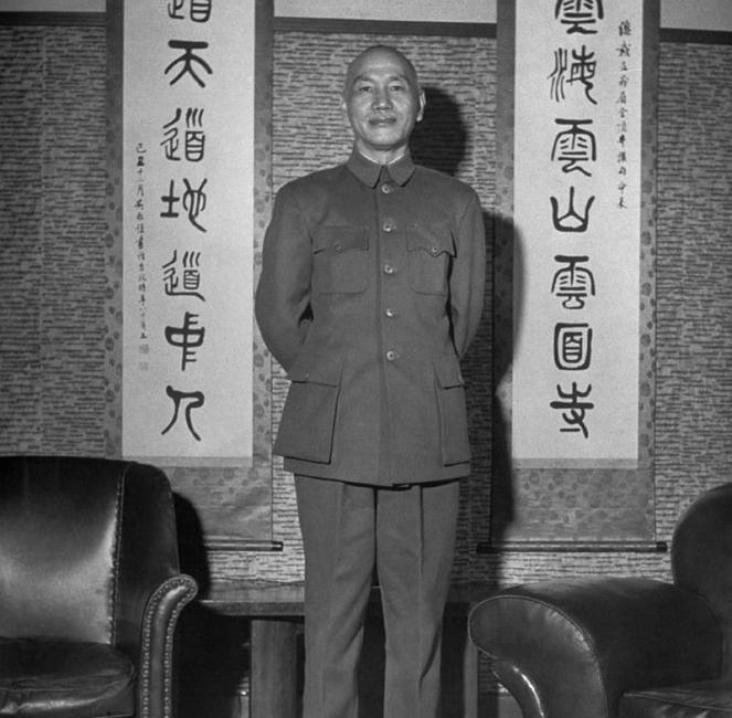 蔣攝於臺灣,1950年1月 引自wiki