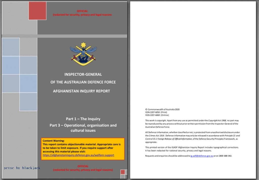 Brereton Report 取自澳洲國防部