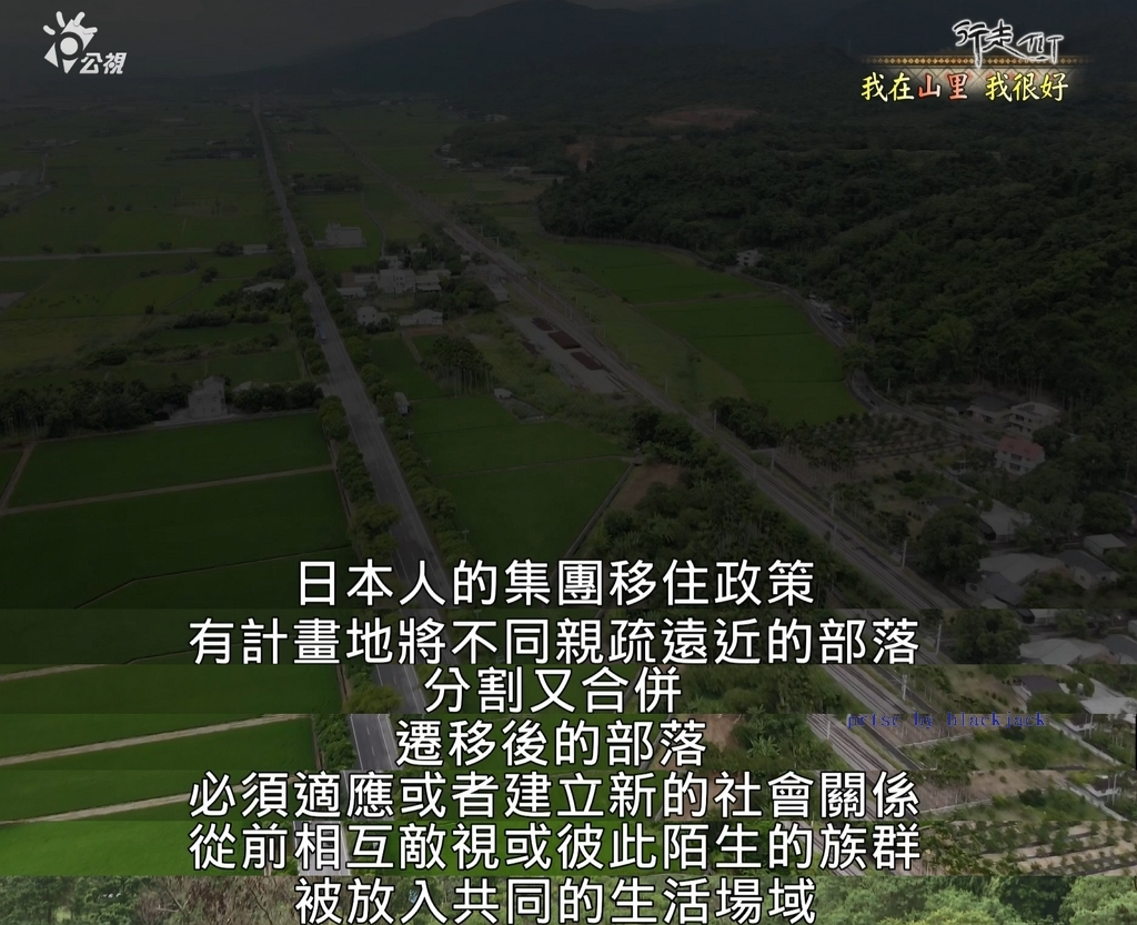 日本亦以「教化」為名強迫原住民離開原生地,還將敵對的原住民「安置」於同一區域 翻攝 公視節目TIT《我在山里 我很好》