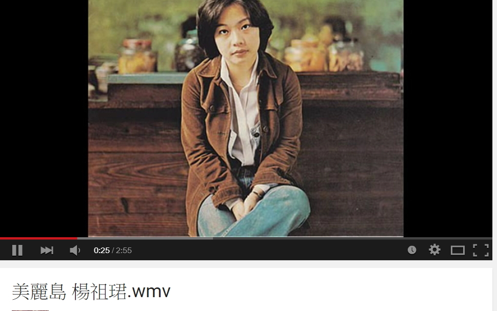 楊祖珺與《美麗島》翻攝youtube
