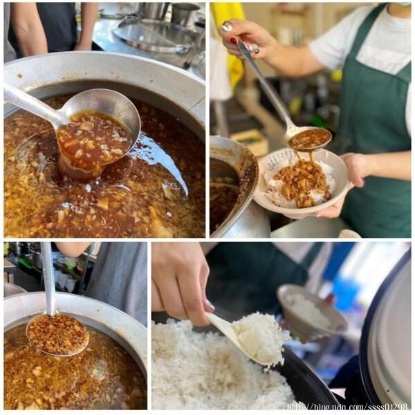 將一大匙肉燥滷汁淋在白飯上的畫面看了賞心悅目,非常療癒,我真的無法抗拒這鍋滷汁肉燥飄來的香氣。